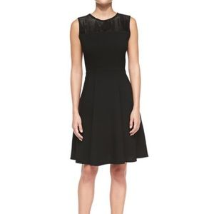 NWT Elie Tahari Black Ophelia Dress Mesh A-Line 12